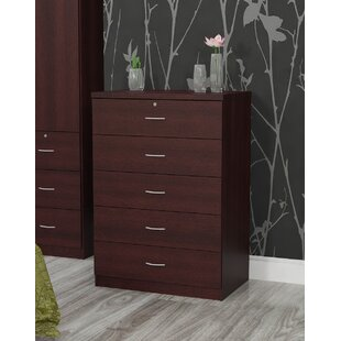 Debbie 5 Drawer Chest by Hazelwood Home Comparison