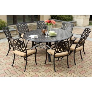 Fleur De Lis Living Campton 9 Piece Dining Set with Cushion
