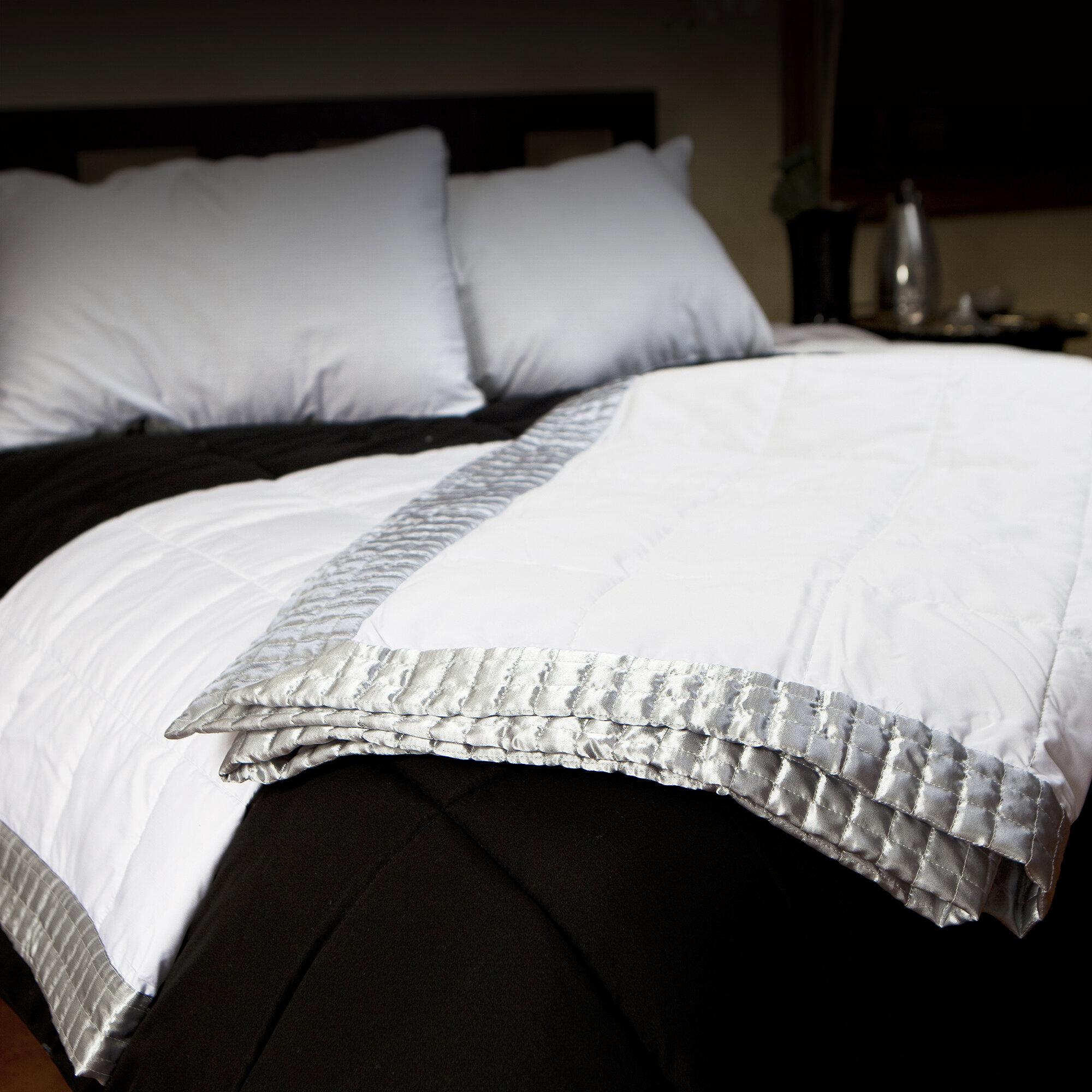 Allied home geometric shapes satin border blanket reviews wayfair jpg  2000x2000 Satin blanket 12c241da9