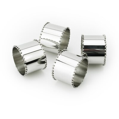 Tervy Beaded Stainless Steel Napkin Ring