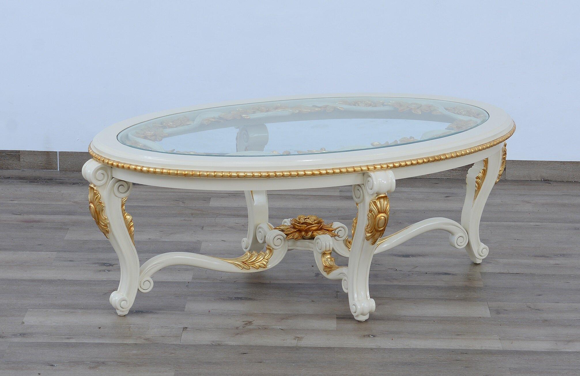 Europeanfurniture Bellagio Oval Coffee Table Wayfair