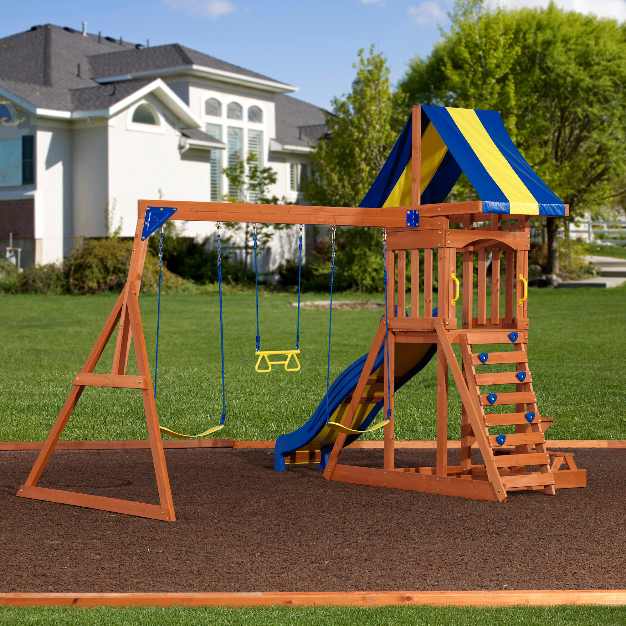wood somerset power swing discovery pdx backyard baby set kids wayfair tower