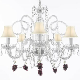 Atchley 5-Light Elegant Shaded Chandelier by Astoria Grand