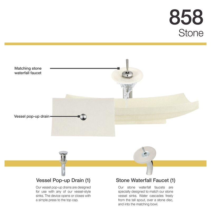 MRDirect Cream Pinta Compound Stone Rectangular Vessel Bathroom Sink ...
