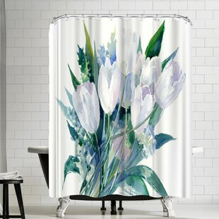 Suren Nersisyan Tulips Single Shower Curtain