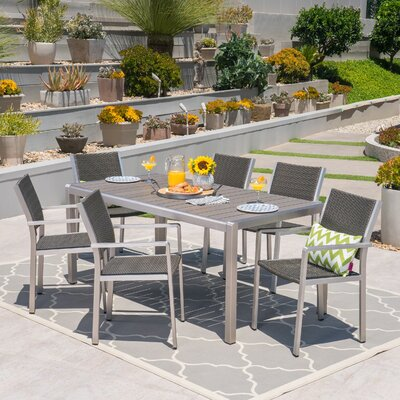 Royalston Aluminum 7 Piece Dining Set by Brayden Studio Looking for