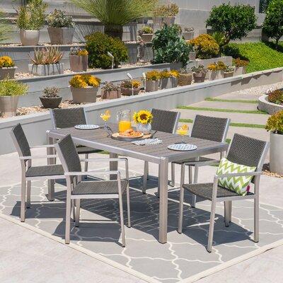 Royalston Aluminum 7 Piece Dining Set by Brayden Studio New