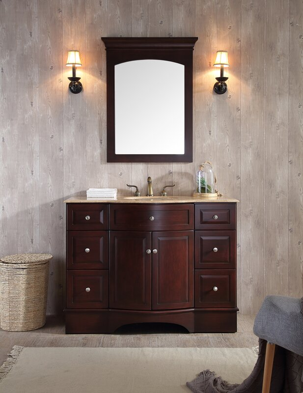 Dale 48 Single Bathroom Vanity Set With Mirror