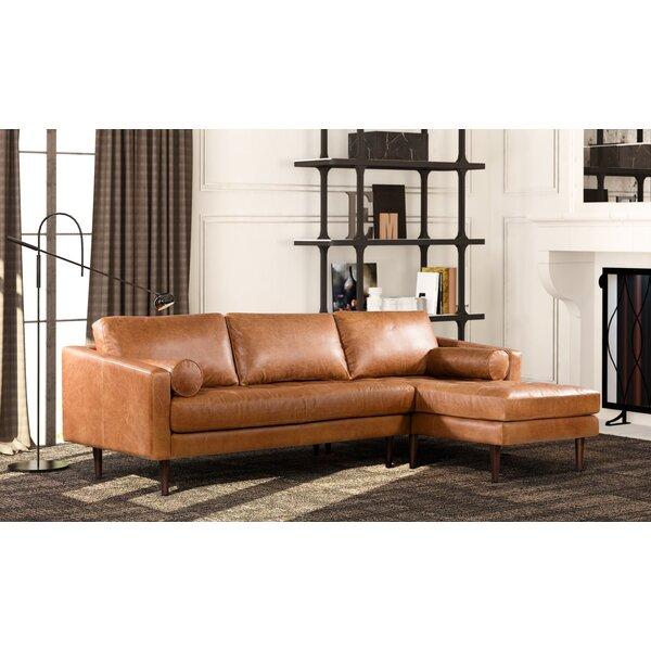 Light Tan Leather Sectional | Wayfair