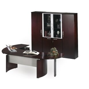 Napoli Series 4-Piece L-Shape Desk Office Suite by Mayline Group No Copoun