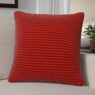 Kentish Strip Square Cotton Throw Pillow