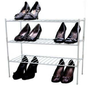 Reviews Extra Large 3-Tier Shoe Rack By Panacea