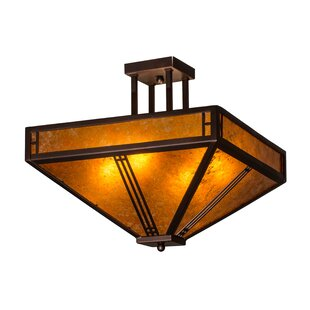Yoshida 4-Light Outdoor Flush Mount By Loon Peak Outdoor Lighting