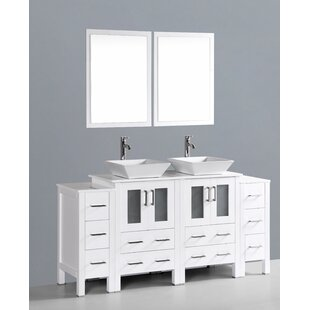 Netto 72 Double Bathroom Vanity Set with Mirror by Ebern Designs