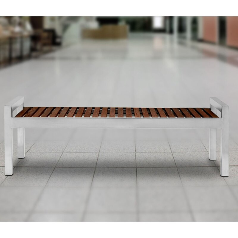 Commercial Zone Skyline Stainless Steel Picnic Bench