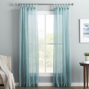Wayfair Basics Solid Sheer Tab Top Single Curtain Panel by Wayfair Basics™