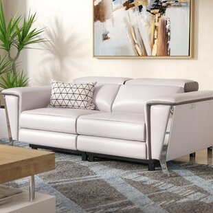 Affordable Price Baccus Leather Reclining Loveseat by Wade Logan Reviews (2019) & Buyer's Guide