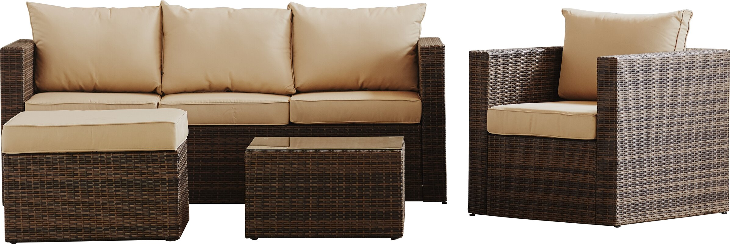 Mercury Row Rister 4 Piece Sectional Set with Cushions & Reviews ...