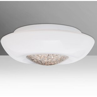 Read Reviews Gleem Outdoor Flush Mount By Besa Lighting