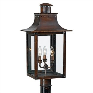 Millbrook Outdoor 3-Light Aged Copper Lantern Head by Three Posts