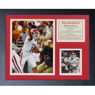 Sam Bradford - Oklahoma Home Framed Memorabilia By Legends Never Die