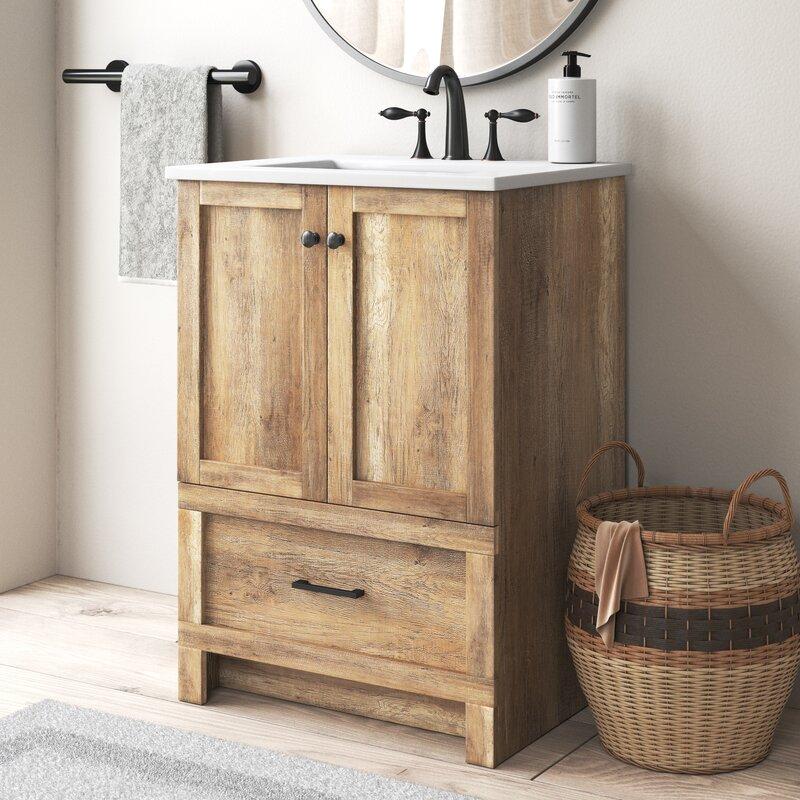 Coastal Farmhouse Ahmed 24 Single Bathroom Vanity Reviews Wayfair
