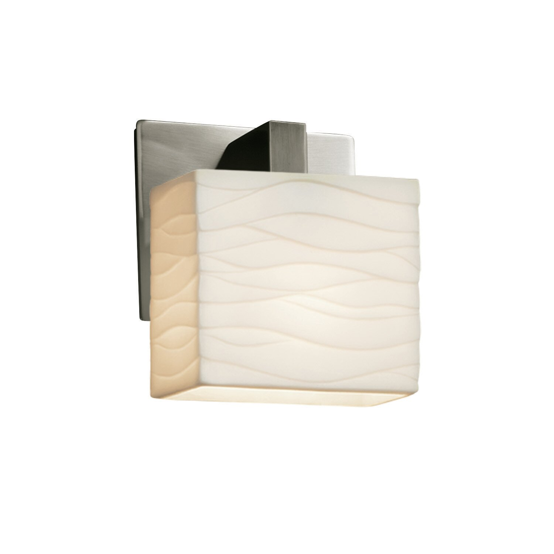 Ebern Designs Alhard 1 Light Dimmable Brushed Nickel Armed Sconce Wayfair