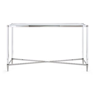 Nakasa Belisso Acrylic and Stainless Steel Console Table