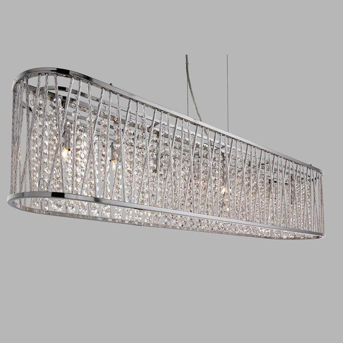 B 8 Light Crystal Pendant
