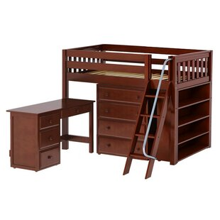 Spinella Low Loft Bed with Storage