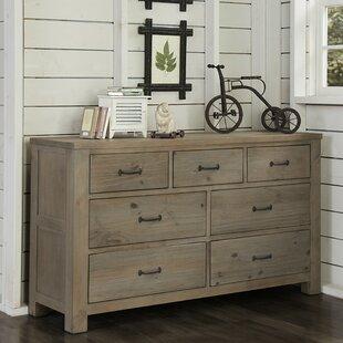 Price comparison Bedlington 7 Drawer Double Dresser with Mirror ByGreyleigh