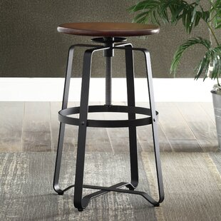 Belfield Adjustable Height Swivel Bar Stool Laurel Foundry Modern Farmhouse