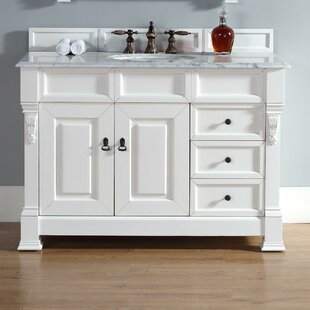 Bargain Bedrock 48 Single Cottage White Bathroom Vanity Set with Drawers By Darby Home Co