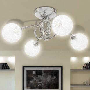 4 Light Flush Ceiling Light