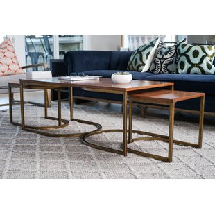 Hives and Honey Haven Home Lincoln Nesting 3 Piece Coffee Table Set