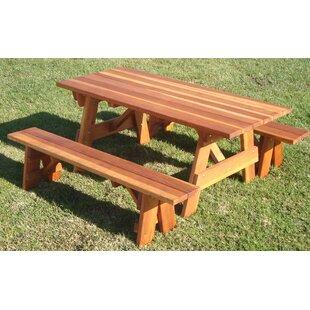 Brayden Studio Thrailkill Wooden Picnic Table