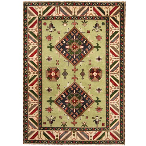 Isabelline One Of A Kind Jevon Hand Knotted Red Beige 5 7 X 7 7 Wool Area Rug Wayfair