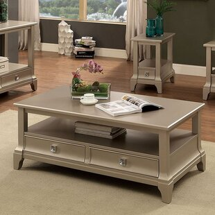 Theodis Coffee Table with Storage by House of Hampton