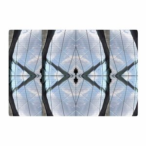 Tiny September Butterfly Glass Photography Blue/Black Area Rug
