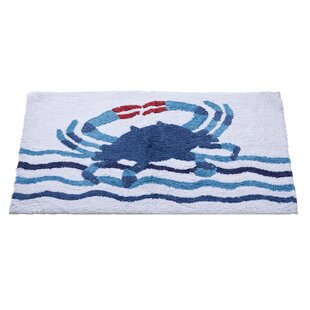 Floating Crab Bath Rug By Home Furnishings by Larry Traverso