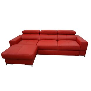 Sharolyn Leather Sleeper Sectional