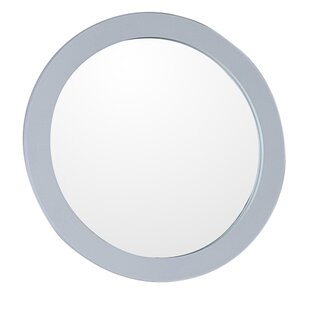 Reviews Round Framed Bathroom/Vanity Wall Mirror By Bellaterra Home