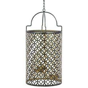 Bloomsbury Market Metal Lantern with 3 Holders Chain Hanger