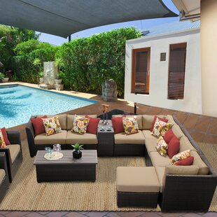 TK Classics Barbados 12 Piece Sectional Set with Cushions
