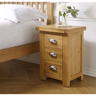 Antonio 3 Drawer Bedside Table By Gracie Oaks