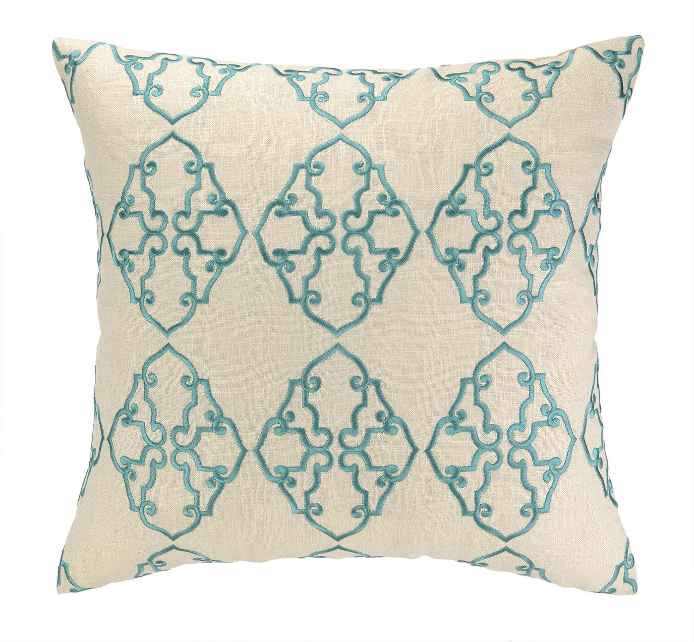 D L Rhein Filigree Embroidered Decorative Linen Throw Pillow Wayfair