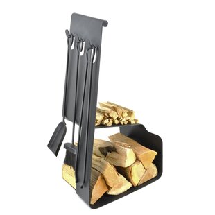 Viking 4 Piece Steel Fireplace Tool Set By Symple Stuff