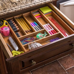 Sweet Home Collection Expandable Bamboo Drawer Organizer