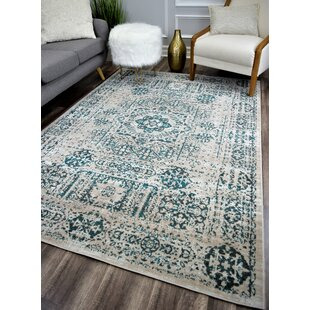 Check Prices Nannette Transitional Turquoise Stone/Gray Indoor/Outdoor Area Rug By Bungalow Rose