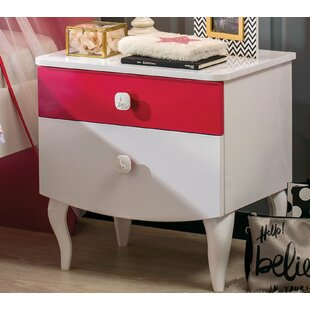 Pickel 2 Drawer Nightstand by Zoomie Kids